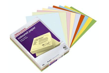 Kopipapir ASS. farver A4 80g