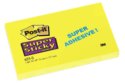 Post-it Super Sticky - gule