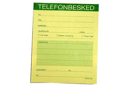 Telefonbeskedblokke