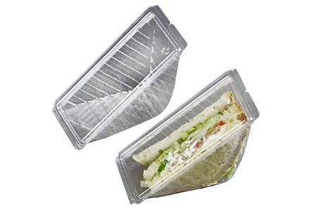 """Plastbakke m/låg """"fast food"""""""