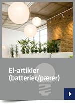 El-artikler (batterier/pærer)