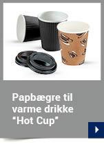 """Papbægre til varme drikke design """"Hot Cup"""""""