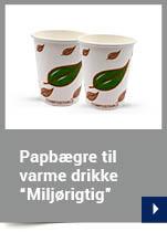 """Papbægre til varme drikke design """"Miljørigtig"""""""