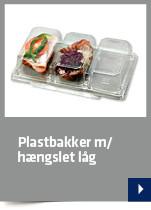 Plastbakker m/hængslet låg