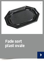 Fade sort plast ovale