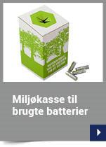 Miljøkasse til brugte batterier