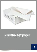 Plastbelagt papir