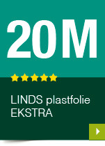 LINDS Plastfolie Ekstra, 20 m
