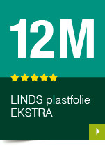 LINDS Plastfolie Ekstra, 12 m