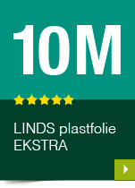 LINDS Plastfolie Ekstra, 10 m