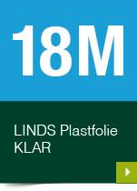 LINDS Plastfolie Klar, 18 m