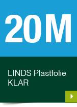 LINDS Plastfolie Klar, 20 m