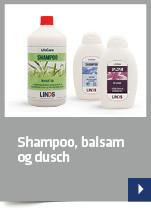 Shampoo, balsam og dusch
