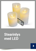 Stearinlys med LED