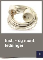 Inst. - og mont. ledninger