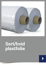Sort/hvid plastfolie