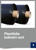 Plastfolie industri sort