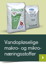 Vandopløselige makro- og mikronæringsstoffer