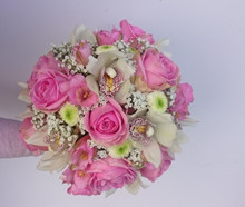Brudebuket med orkideer