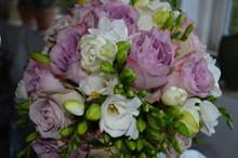 Brudebuket med fresier