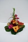 Båredekoration med gladiolus