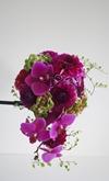 Brudebuket i lilla nuancer