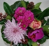 Buket med lilla orkidee