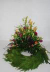 Krans med tulipaner