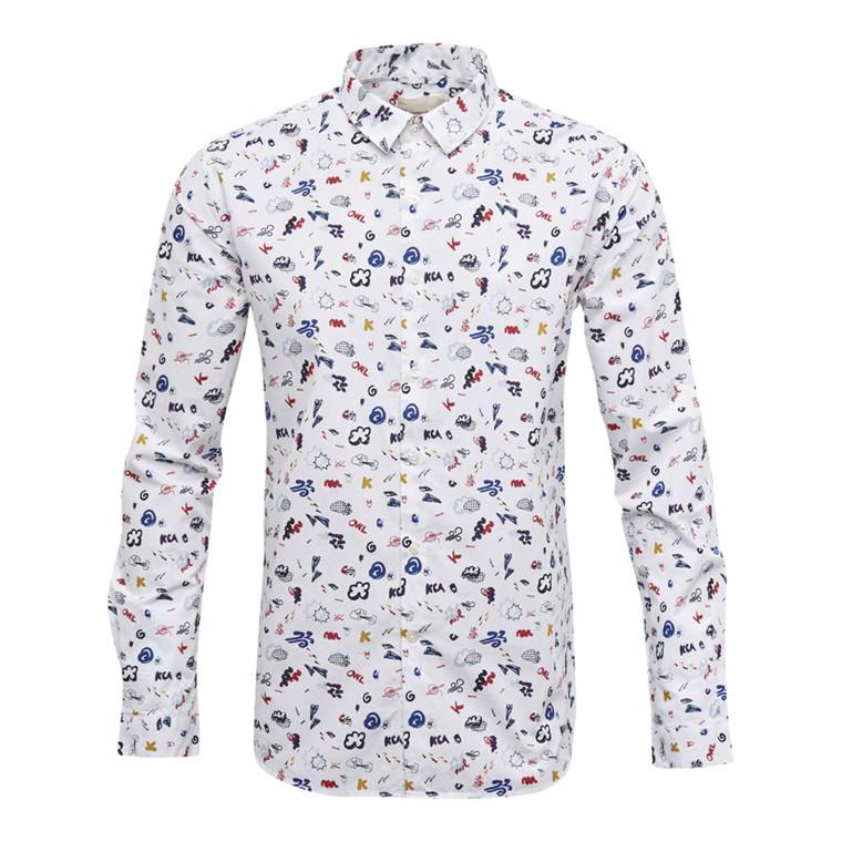 Knowledge Cotton Concept Print Skjorte