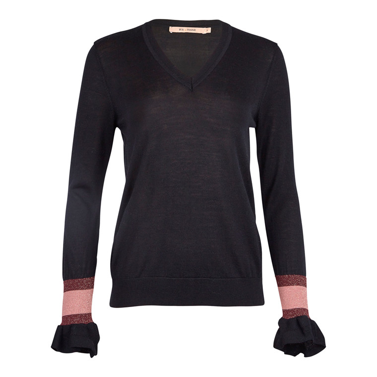 Rue De Femme V-neck Pullover