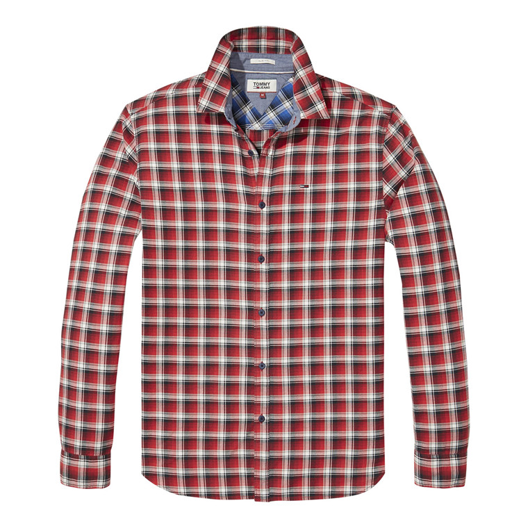 Tommy Jeans Essential Washed Check Skjorte