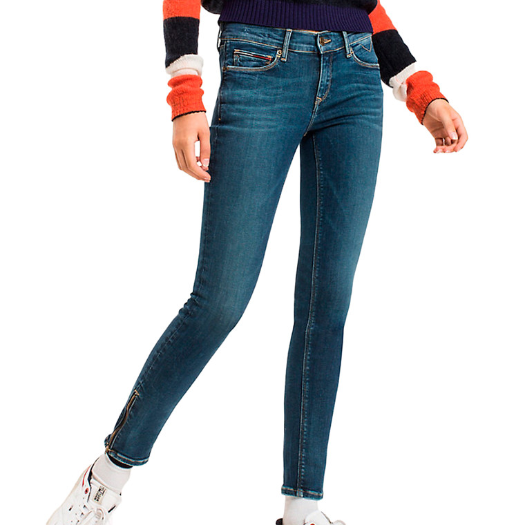 Tommy Jeans Skinny Nora 7/8 Zip Jeans