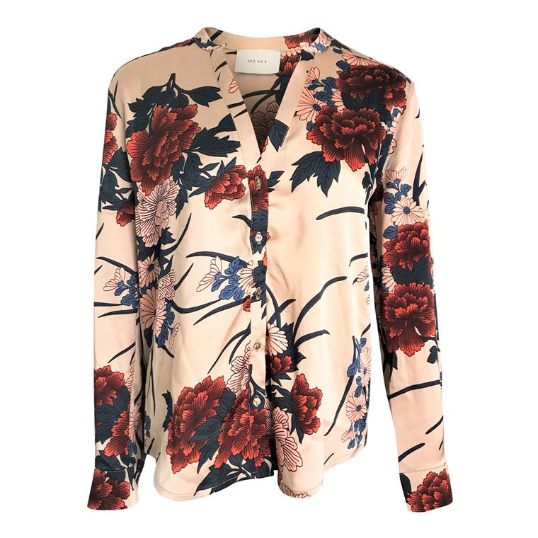Neo Noir Pandora Flower Skjorte