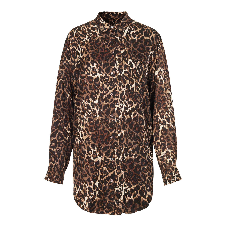 b0f5c8598ad Vacuum lang skjorte i leo print fra Munthe - Shop den nye kollektion her!