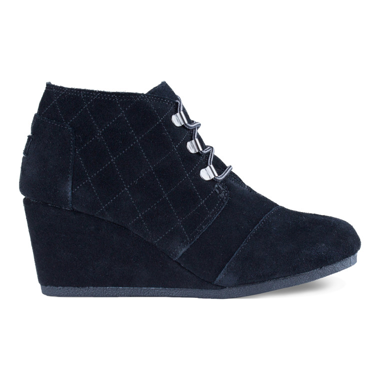 Toms DESERT WEDGE BLACK SUEDE Støvler