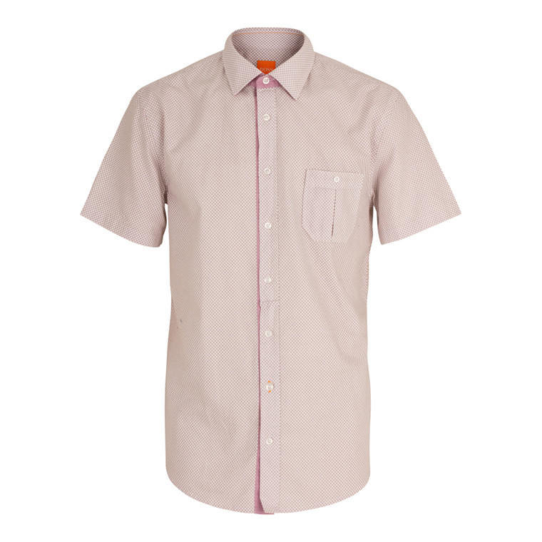 Boss Orange Eslimye Kortærmet Skjorte