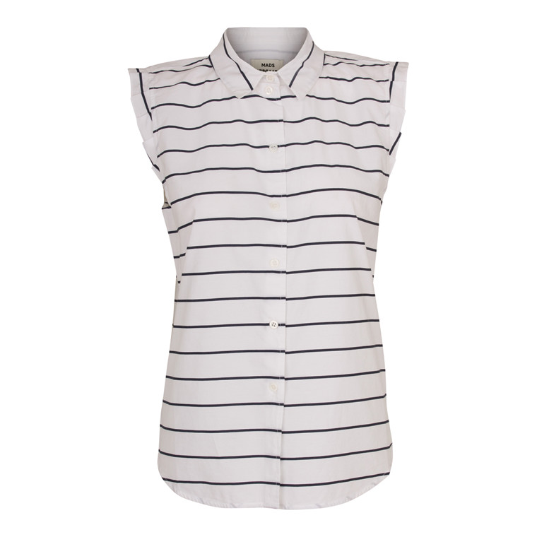Mads Nørgaard Air Stripe Shirta Frill Top