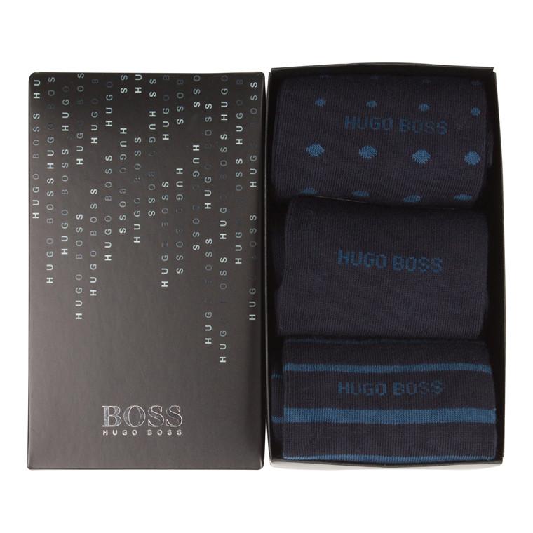 Hugo Boss S 3P Design Box Strømper