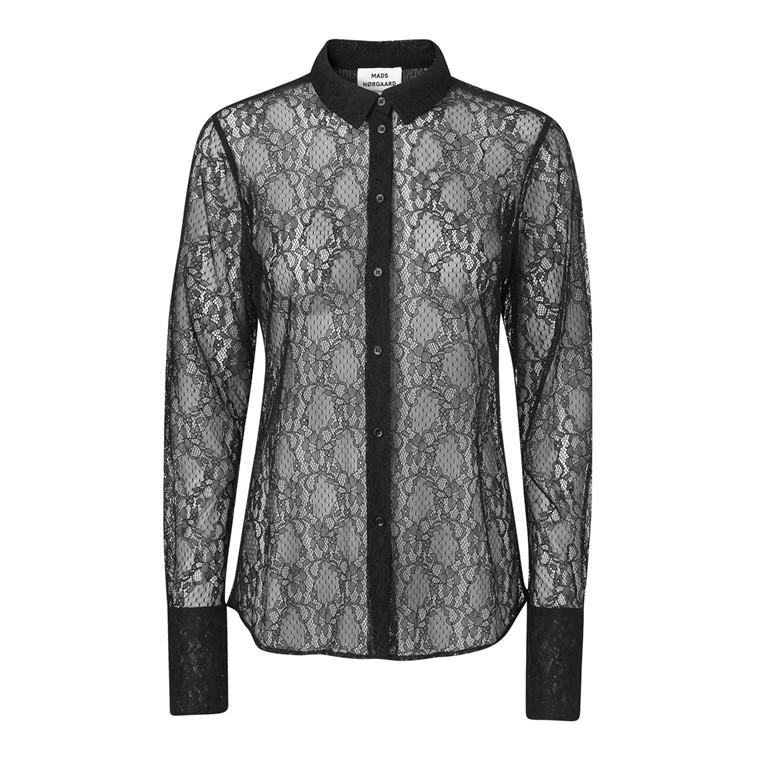 Mads Nørgaard Lace Lux Selma Tape Skjorte