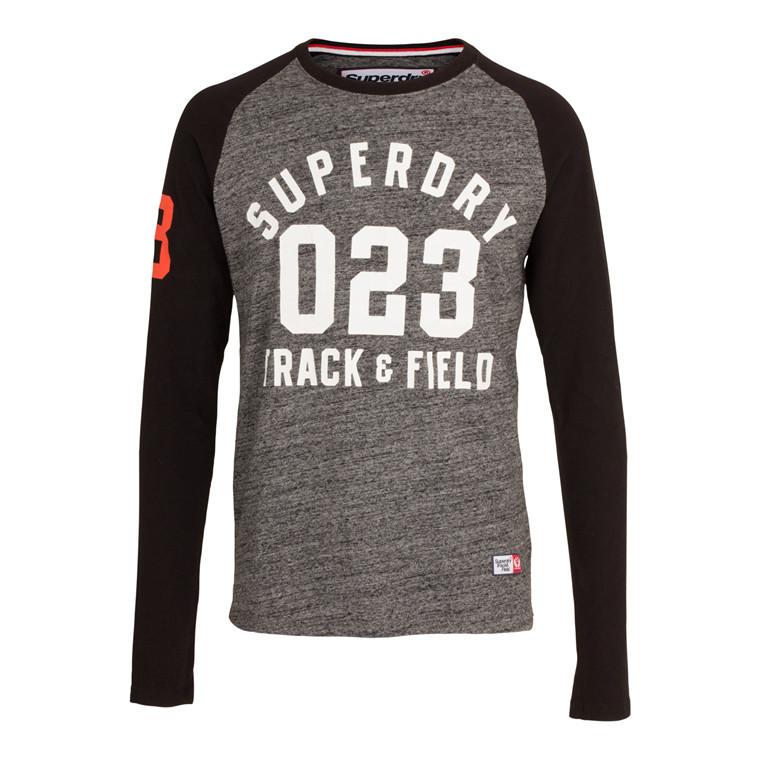 Superdry Trackster Baseball Langærmet T-shirt