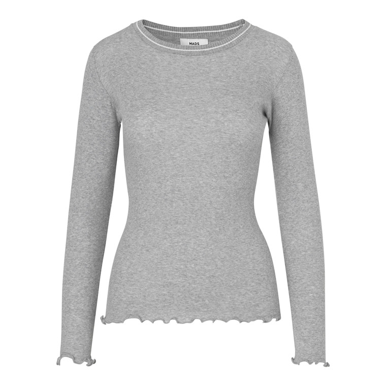 Mads Nørgaard 2x2 Soft Frill Sporty Bluse