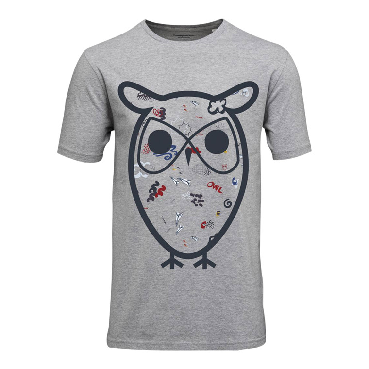 Knowledge Cotton Stor Ugle T-Shirt