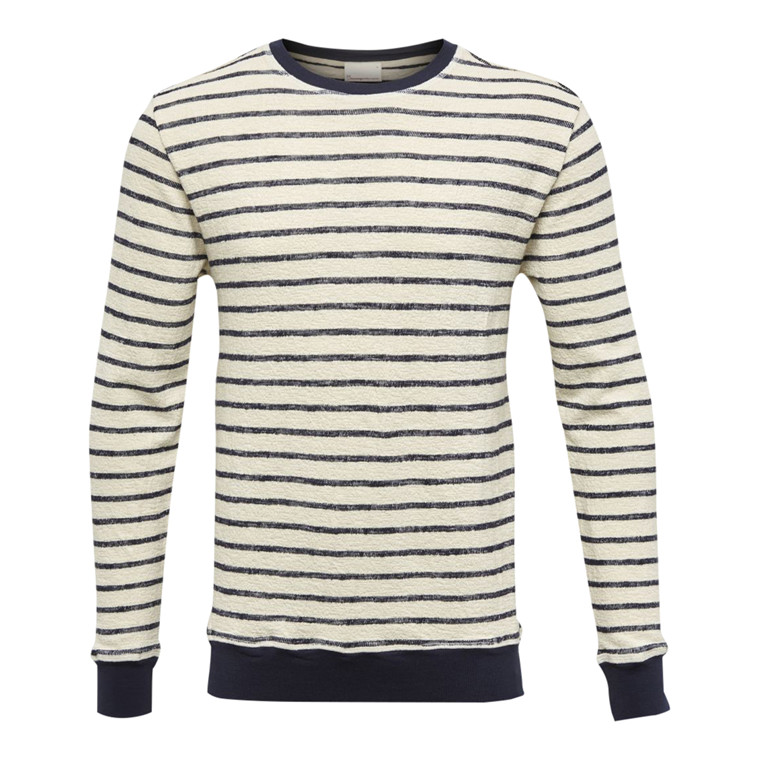 Knowledge Cotton Striped Sweat