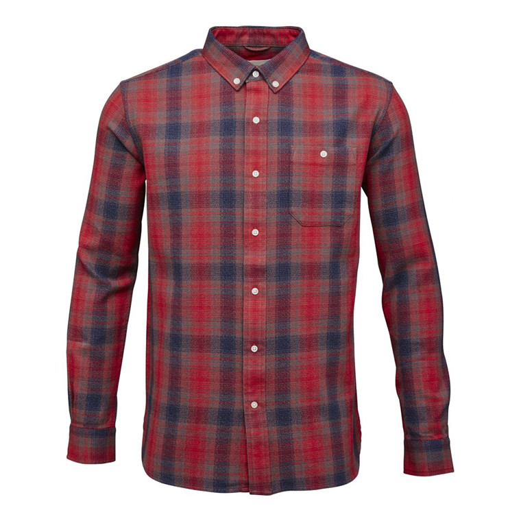 Knowledge Cotton Yarndyed Checked Skjorte