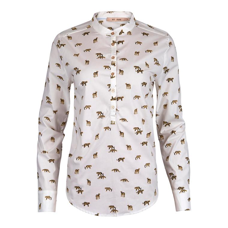 Rue De Femme Dot Leopard Skjorte