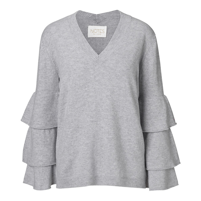 Notes Du Nord Florence Cashmere Ruffle Bluse