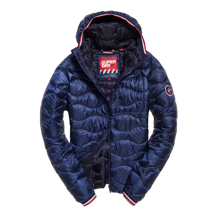 Superdry Wave Quilt Hooded Jakke