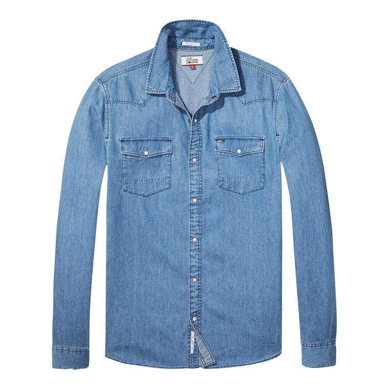 Tommy Jeans Basic Reg Denim Skjorte
