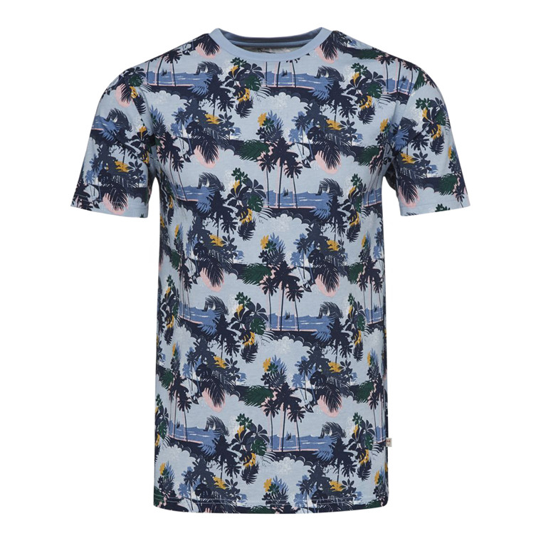 Knowledge Cotton Palm Print T-shirt