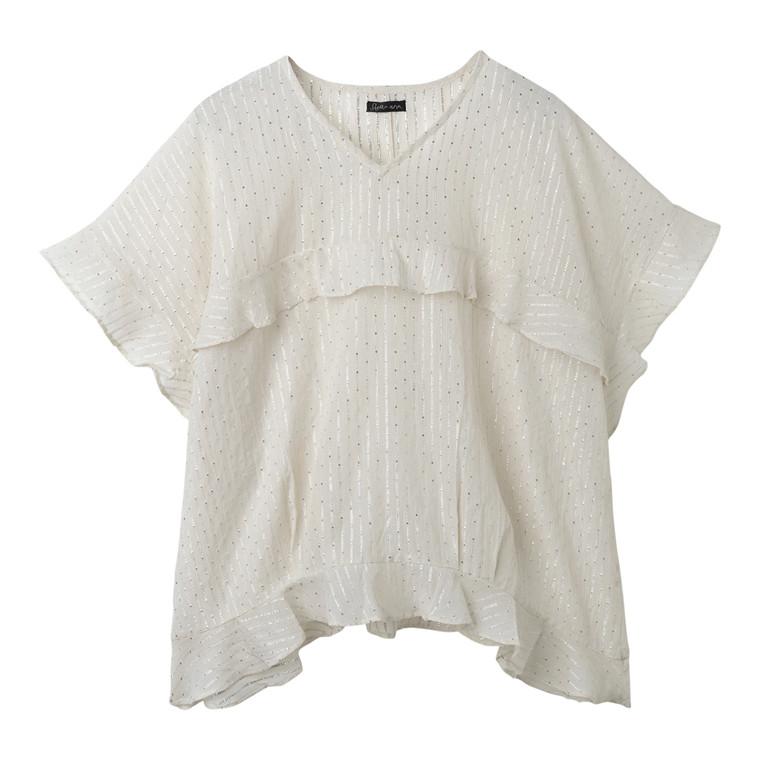 Stella Nova Cotton Lurex Bluse